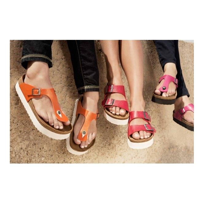 Papillio By Birkenstock GIZEH 304591 (Reg) Ladies Birko-Flor Toe Post  Sandals Graceful 387aebac1a