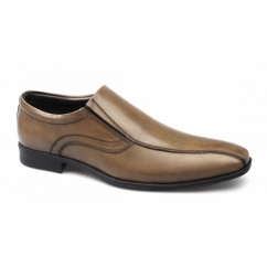 PATTON Mens Leather Loafer Shoes Tan