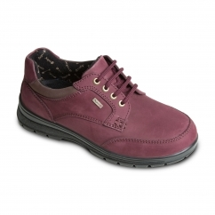 PEAK Ladies Waterproof Leather Extra Wide Plus Boots Burgundy