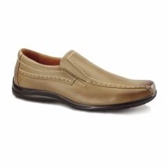 PEBBLE Mens Leather Loafers Tan