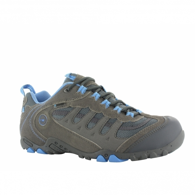 Hi-Tec PENRITH LO WP Ladies Waterproof Walking Shoes Grey/Charcoal