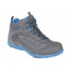 PENRITH MID WP JR Boys Waterproof Hiking Boots Charcoal/Cobalt