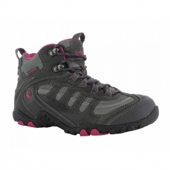 PENRITH MID WP Ladies Waterproof Hiking Boots Charcoal/Cyclamen