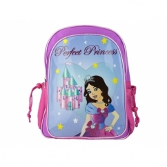 PERFECT PRINCESS Girls Zip Up Backpack Pink