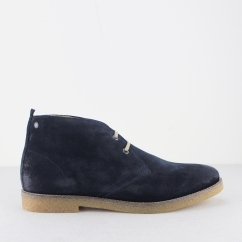 Base London PERRY Mens Burnished Suede Desert Boots Navy