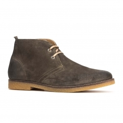 Base London PERRY Mens Suede Desert Boots Olive