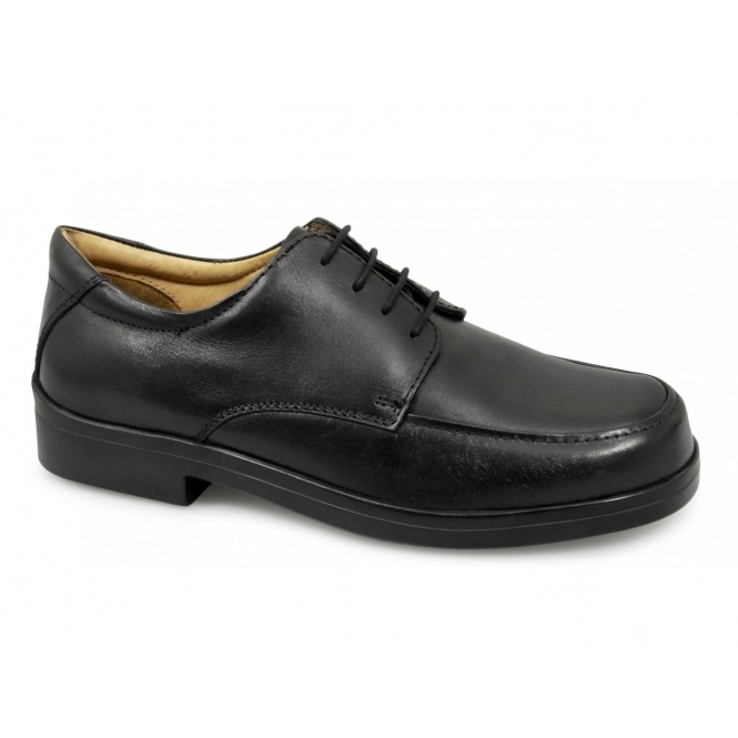 Roamers PETER Mens Lace-up Light XXX Extra Wide Shoes Black