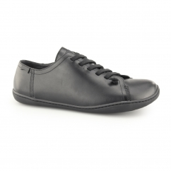 PEU Mens Leather Lace Up Pump Shoes Black