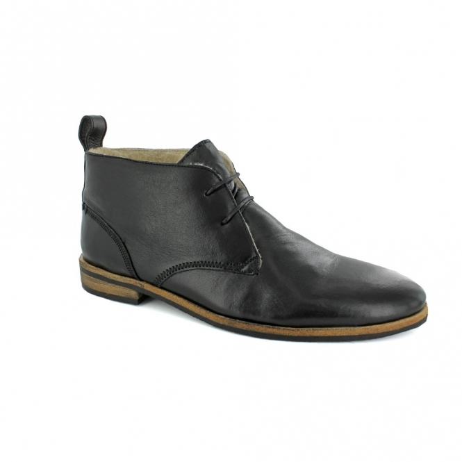 Paolo Vandini PI-PLAYER FUR Mens Leather Chukka Boots Black