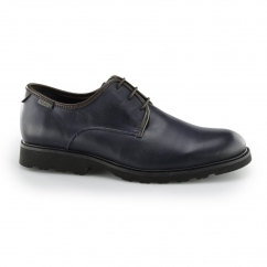 Pikolinos GLASGOW Mens Leather Smart Derby Lace Up Shoes Blue