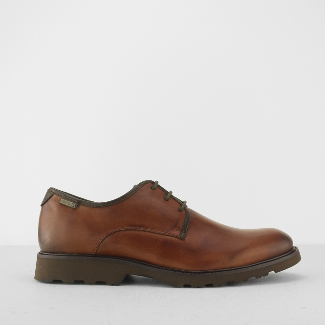 65458c53167 Pikolinos GLASGOW Mens Leather Smart Derby Lace Up Shoes Tan | Shuperb