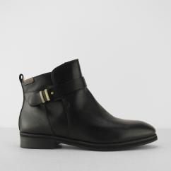 ROYAL Ladies Leather Ankle Boots Black