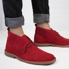 Popps™ COLOUR Unisex Suede Desert Boots Red