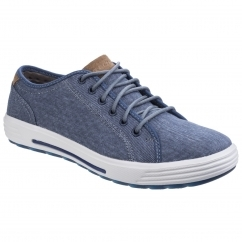 Skechers PORTER METENO Mens Canvas Trainers Navy | Shuperb