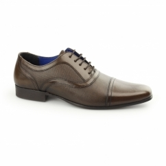 POTTON Mens Leather Toe Cap Oxford Brown