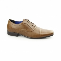 POTTON Mens Leather Toe Cap Oxford Tan