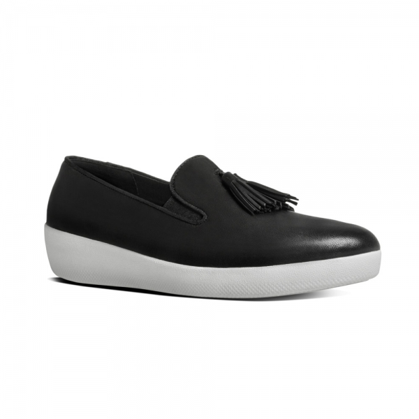 e13e2a001c3c7 FitFlop Womens Tassel Superskate Leather Loafers Size 3 - 8 UK 5 Black.  About this product. Picture 1 of 5  Picture 2 of 5  Picture 3 of 5 ...