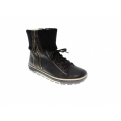 MARCY Ladies Warm Lined Winter Boots Black