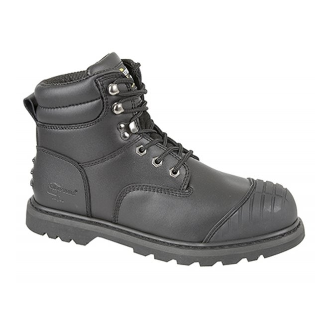 Grafters PROTECTOR Unisex S1 HRO SRA Safety Boots Black