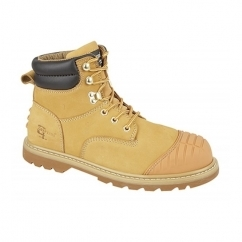 PROTECTOR Unisex S1 HRO SRA Safety Boots Honey