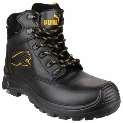 BORNEO MID 6304110 Mens S3 Leather Safety Boots Black