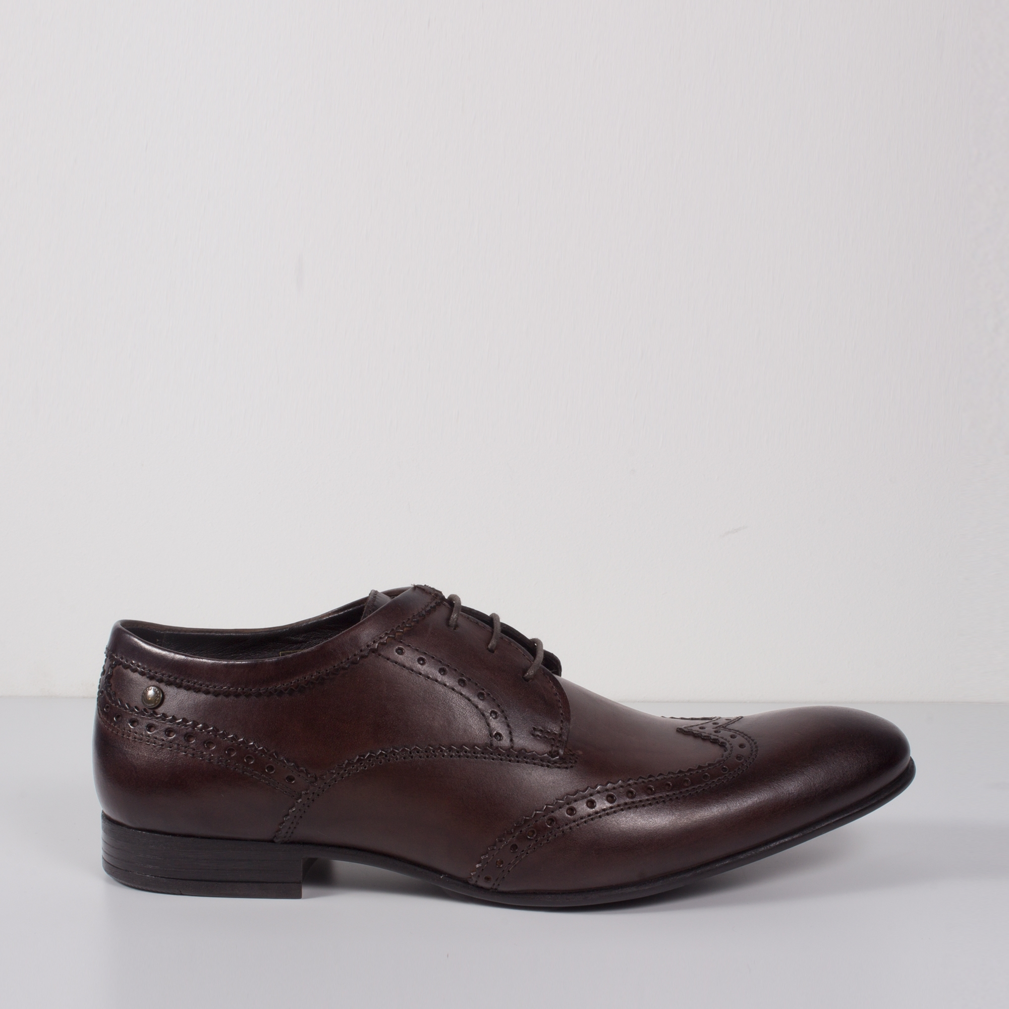95dee7ed547ed Base London PURCELL Mens Leather Brogue Shoes Brown   Shuperb