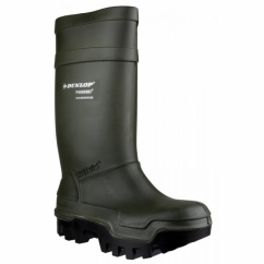 PUROFORT THERMO+C662933 Mens S5 CI SRC Safety Wellington Boots Green