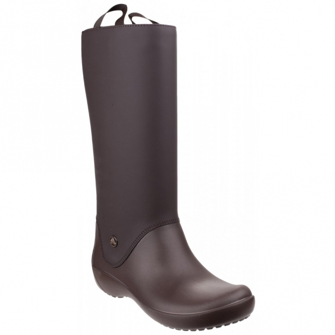 Crocs RAINFLOE Ladies Croslite Rubber Wellington Boots Espresso