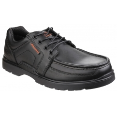 US Brass RALEIGH Mens Leather Smart Lace Up Shoes Black