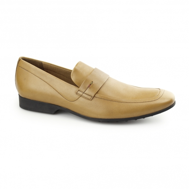 Kickers RANLYN SLIP Mens Leather Slip On Loafers Tan