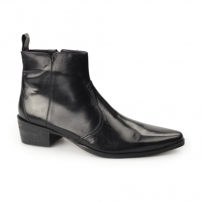 Gucinari RAVELLO Mens Leather Ankle Boots Black