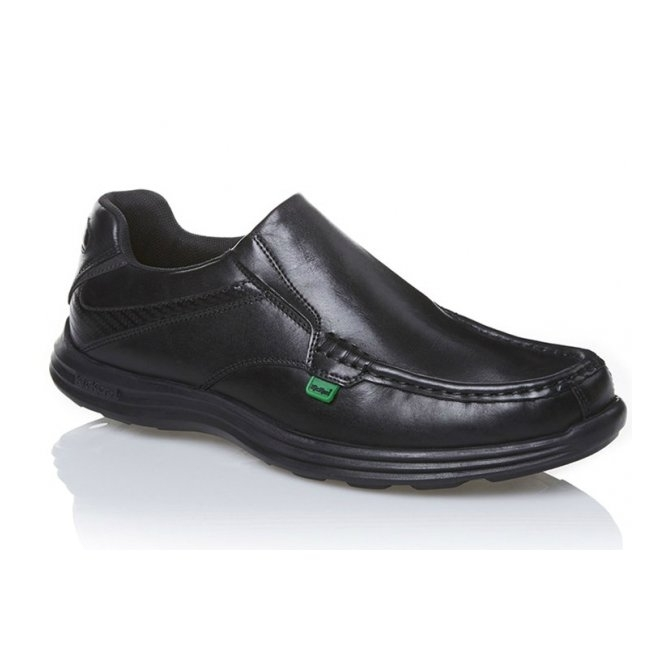 Kickers REASAN SLIP Mens Leather Slip-On Shoes Black
