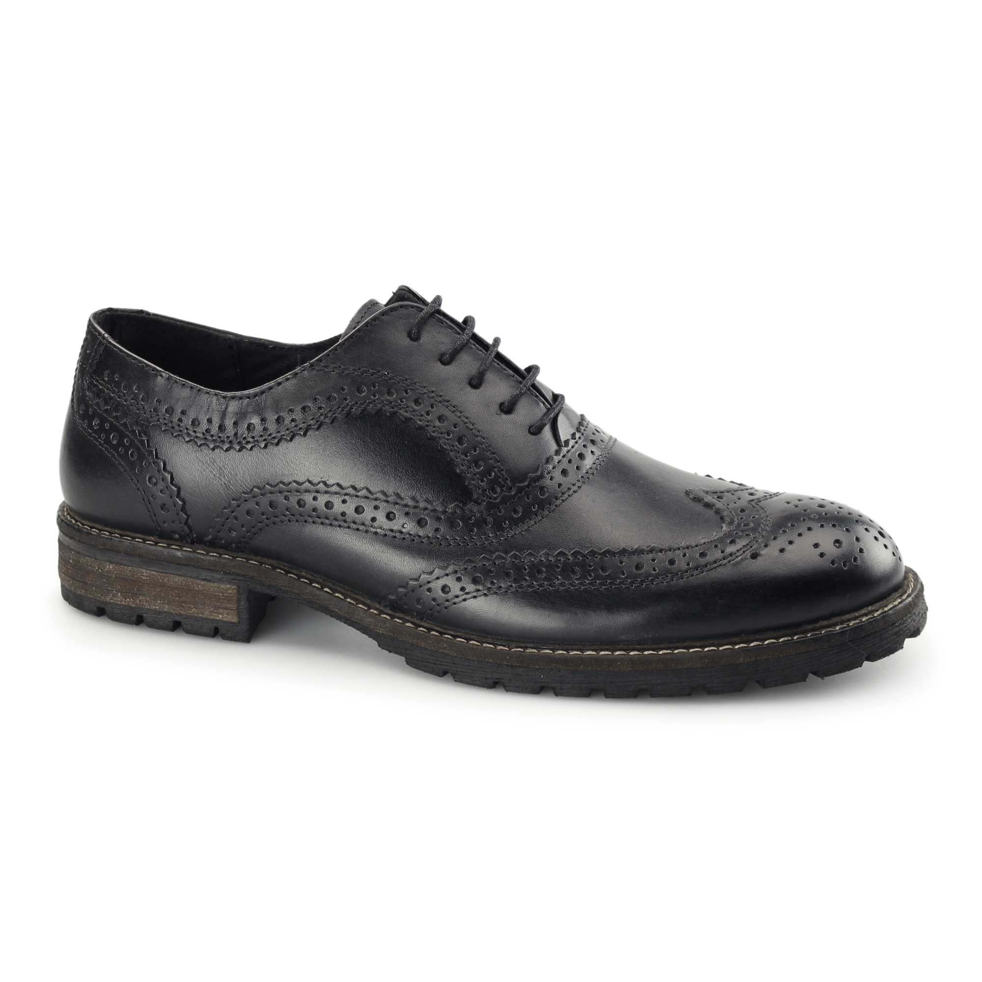 d865f9985952 Red Tape BARROW Mens Leather Smart Brogue Shoes Black | Buy At Shuperb