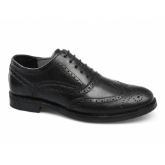 BRADSHAW Mens Leather Lace Up Brogues Black