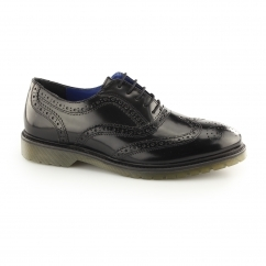 COLWORTH Mens Leather Oxford Brogues Black
