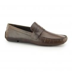 CRANFIELD Mens Leather Driving Loafers Tan