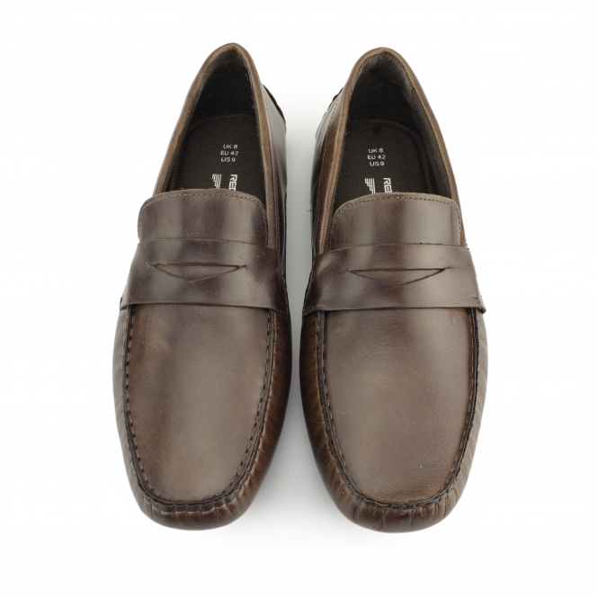 1a7b4104c3 Red Tape CRANFIELD Mens Leather Driving Loafers Tan | Buy At Shuperb