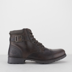 CROXDALE Mens Leather Worker Boots Brown