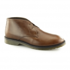 EDWORTH Mens Leather Chukka Boots Tan