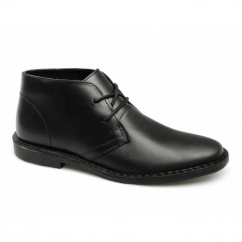 GOBI II Mens Leather Desert Boots Black