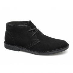 GOBI II Mens Suede Leather Desert Boots Black