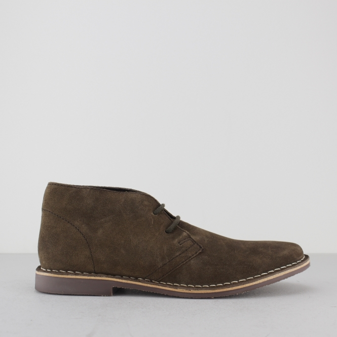 Red Tape GOBI II Mens Suede Leather Desert Boots Brown