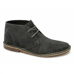 GOBI II Mens Suede Leather Desert Boots Grey