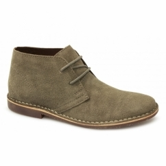 GOBI II Mens Suede Leather Desert Boots Stone