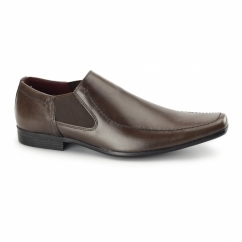 HEDDON 2 Mens Leather Gusset Shoes Brown