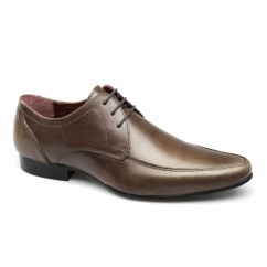 HOLLINS Mens Leather Lace-Up Shoes Tan