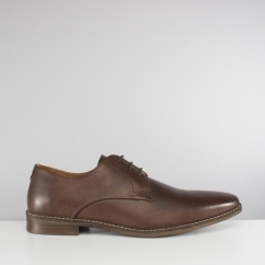 Red Tape HOPTON Mens Leather Lace Up Derby Shoes Brown