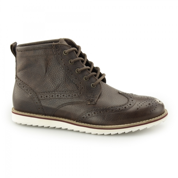 horwood mens leather brogue ankle boots milled