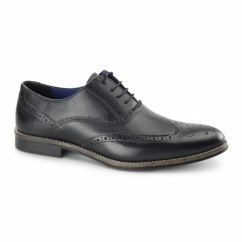 KILDARE Mens Leather Oxford Brogues Black