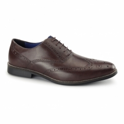 KILDARE Mens Leather Oxford Brogues Bordo